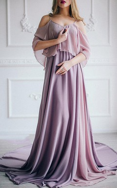 Unique Grecian Chiffon Bridesmaid Dress