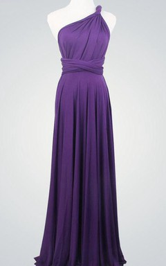 Purple Wrap Bridesmaid Multiway Convertible Party Long Dark Purple Infinity Purple Dress