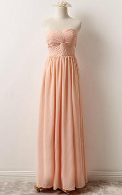Strapped Chiffon&Lace Dress With Lace-up Back