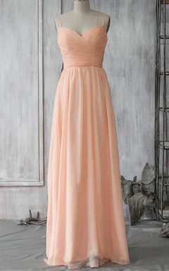Long Sweetheart Backless Chiffon Dress
