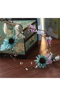 Cernmei / Korean Style Female Bride Headdress Hair Band Gowns Gorgeous Flowers Wreaths Children Travel Photography Hair Accessories