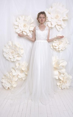 Wedding Silk Tulle And Lace Weddig Dress