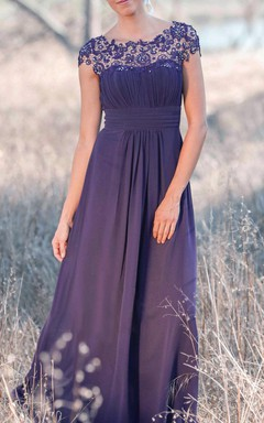 Latest Illusion Purple Bridesmaid Dress
