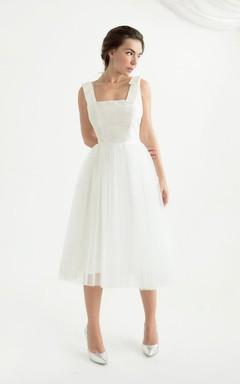 Tea Length Open Back Wedding Erika Dress