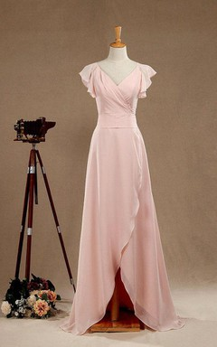 2016 Long Blush Bridesmaid Dress