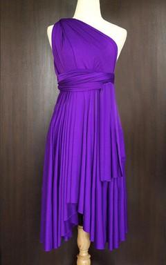 Purple Convertible Wrap Dress