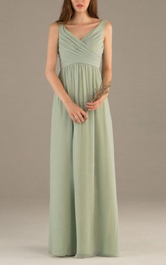 2016 Simple Dusty Green Bridesmaid Dress