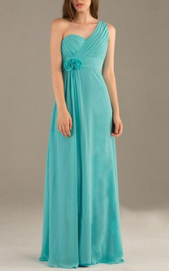 One-shoulder Backless Chiffon Dress
