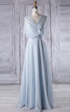 A-line Maxi Chiffon Dress