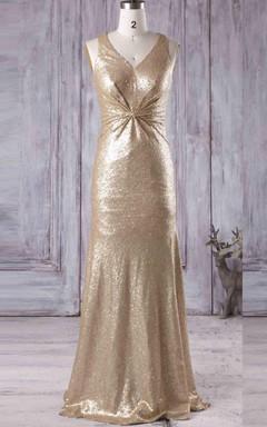 V-neck Dress With Sequins
