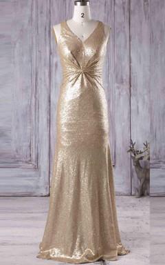V-neck Dress With Sequins