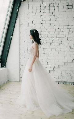 Wedding Belardi Tulle Wedding Romantic Wedding Lace Dress