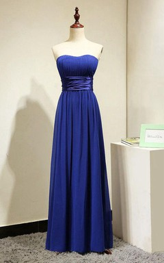 Royal Blue Long Bridesmaid Dress