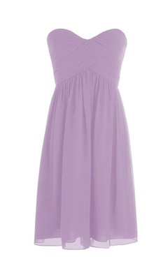 Sweetheart Short Chiffon Dress With Crisscross Ruching