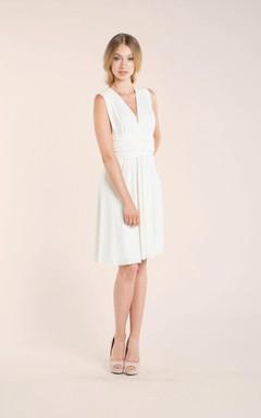 Short Knee-Length Jersey Weddig Dress