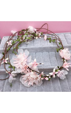 Korean Wreath Hair With Bride Wedding Girlfriend Holiday Photo Studio Photography Head Head Flowers