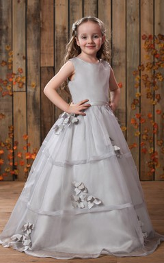 Lovely Sleeveless A-Line Flower Girl Dress With Pleats