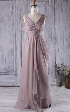 2016 Ruched Draped Bridesmaid Dress