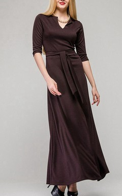 Knotch Modern Maxi Jersey Dress With Bow