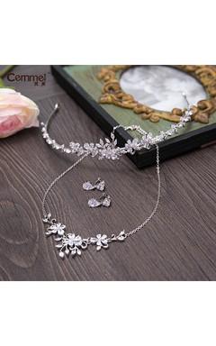 Korean Bride Crown Headdress Three Sets Of Wedding Accessories Wedding Dress Accessories Necklace