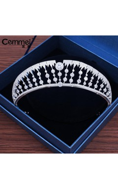 Kunling With The Crown Bride Headdress Korean Zircon Wedding Day Wedding Dress Accessories
