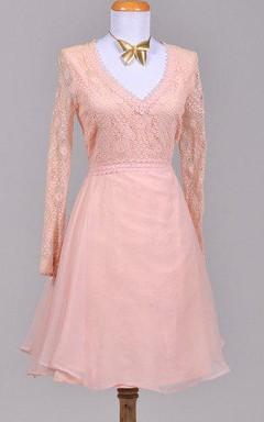 1970 Pink Afternoon Vintage Wedding Dress