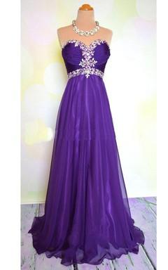 A-line Sweetheart Taffeta Dress with Sequins