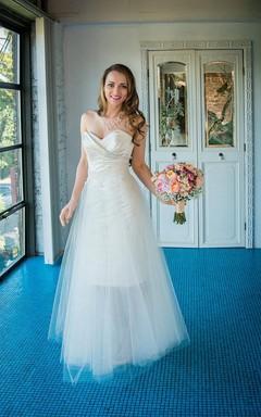 Short De Anna Satin Wedding Weddig Dress