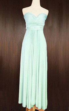 Maxi Mint Bridesmaid Convertible Wrap Dress
