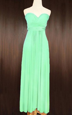 Apple Green Convertible Wrap Full Length Dress