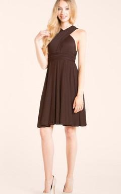 Brown Infinity Short Dress