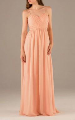 2016 Backless Peach Bridesmaid Dress