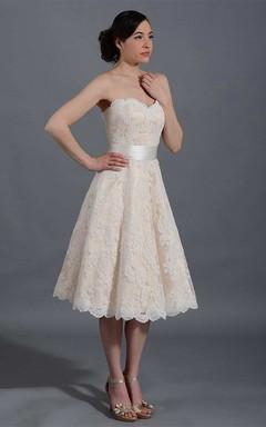 Straps Tulle Satin Lace Wedding Dress