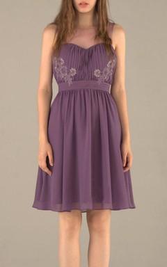 Mini Knee-length Tea-length Sweetheart Chiffon&Tulle&Lace Dress