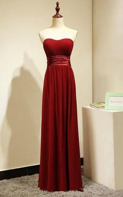 Burgundy Long Bridesmaid Dress