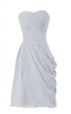 Sweetheart Ruched Long Layered Chiffon Dress