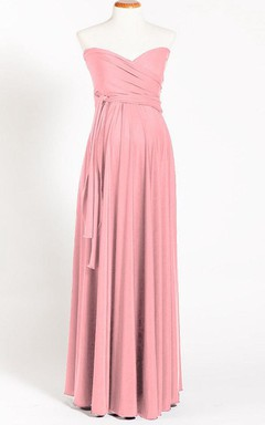 Powder Pink Maternity Infinity Long Maternity Maternity Light Pink Maternity Convertible One Size Dress