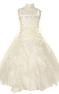 Sleeveless Ruffled Dress With Sequined Bodice