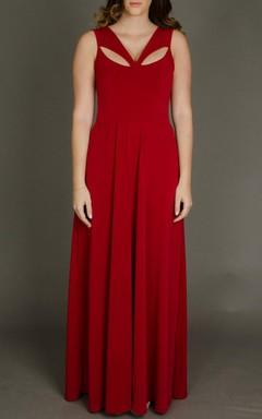 Floor-length Sleeveless Sleeve Dress