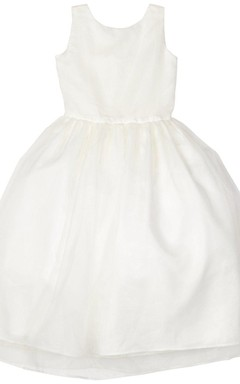 Simple Sleeveless A-line Dress With Beadings and Pleats