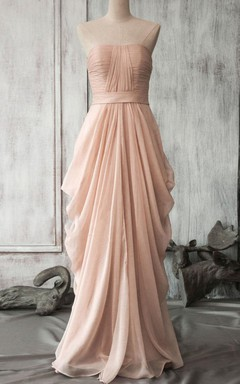 Maxi Chiffon Dress With Draping