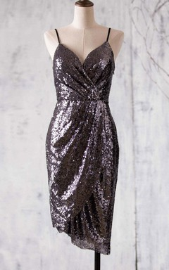 Mini Sweetheart Dress With Sequins