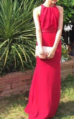 Jewel Neck Sheath Formal Dress