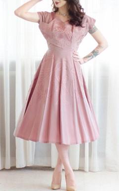 Vintage 50S A Line Pink Dress