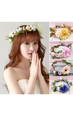 Bride Headdress Wreaths Korean Style Hair Ornaments Studio Photo Seaside Holiday Wedding Jewelry