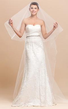 Simple Tulle Chapel Fancy Wedding Veil