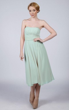 Short Strapped Chiffon Dress