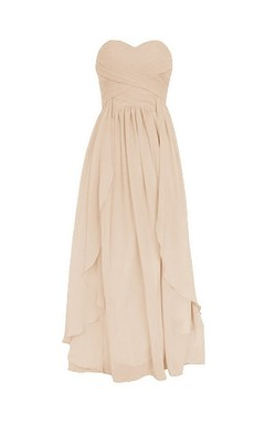 Sweetheart Knee-length Tiered Chiffon Dress With Ruffles