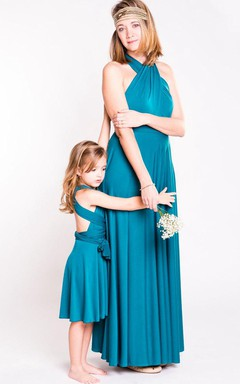 Convertible Jersey&Satin Dress