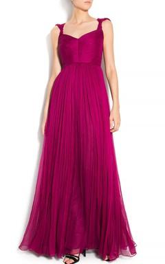 Silk Gown Pleated Silk Boho Style Boho Wedding Prom Red Carpet Cocktail Dress